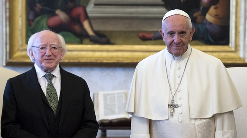 President Michael D Higgins and Pope Francis discussed migration, climate change, global poverty and Brexit negotiations