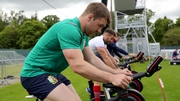Seán O'Brien on the exercise bike at Carton House