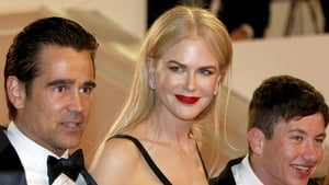 Colin Farrell, Nicole Kidman and Barry Keoghan at the premiere of The Killing of a Sacred Deer at the Cannes Film Festival