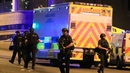 Armed police at the scene in Manchester