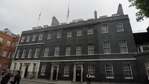 Flags fly at half mast over 10 Downing Street following the attack in Manchester