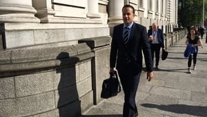 Leo Varadkar arriving at Leinster House this morning