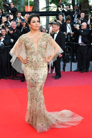 Day Six - Monday May 22: Eva Longoria is mesmerizing in this embellished Marchesa gown. Definitely the dress of our dreams...