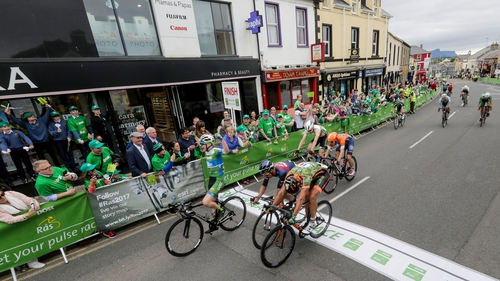 Matthew Teggart crosses the line to win the third stage
