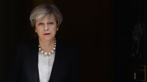 Theresa May addressed the media outside Downing Street this morning