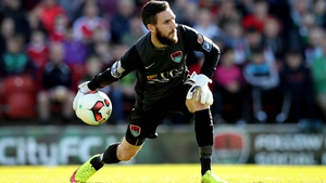 Cork City goalkeeper Mark McNulty