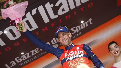 Vincenzo Nibali celebrates his stage win