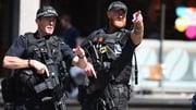 Armed police on patrol in Manchester city centre