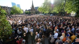 Thousands attended the vigil in Manchester