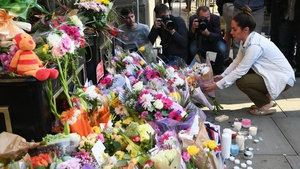 Victims being remembered at a shrine in Manchester