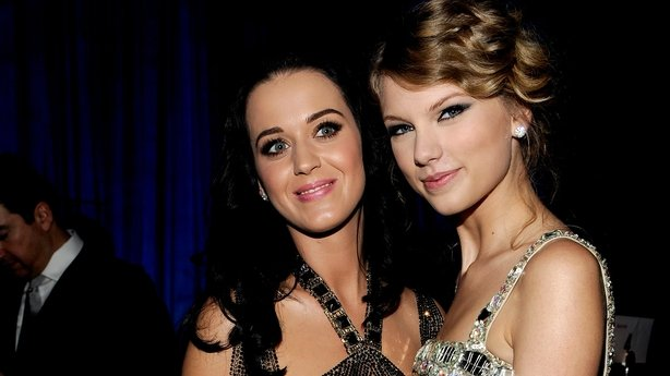 Katy Perry pictured with Taylor Swift who are to become friends again