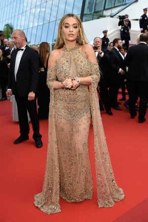 Day Seven - Tuesday May 23: In this sheer and embellished Elie Saab gown, Rita Ora looks like a Greek goddess.