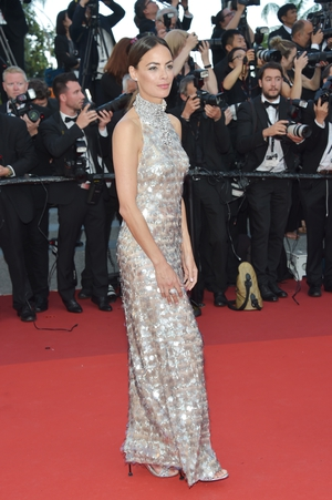 Day Seven - Tuesday May 23: French actress Bérénice Bejo looks like a sequined mermaid in this dress! We love the diamond-like collar of this number.