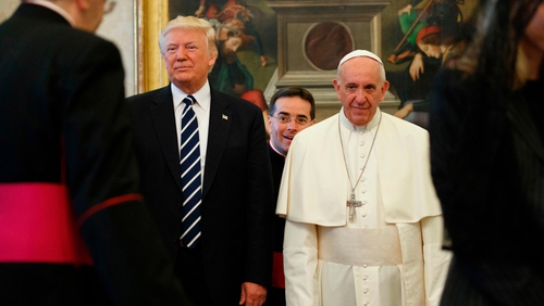 Pope urges Trump to be global peacemaker