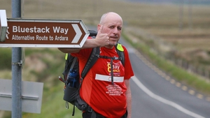 Peadar McDaid will cover 210km on his eight day walk