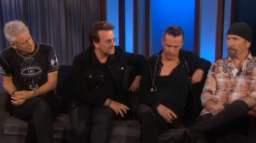 "U2 on Jimmy Kimmel Live! - ""Manchester has an undefeatable spirit"""