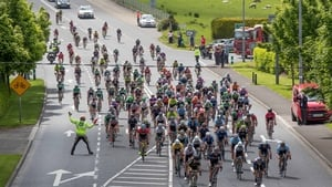 The peleton on the road to Donegal town