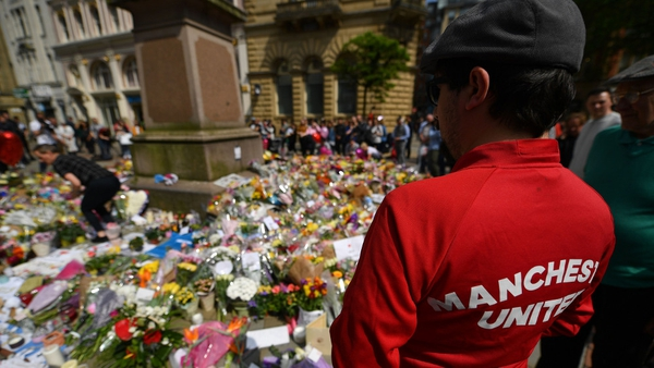 Floral tributes for the victims of the Manchester bombing