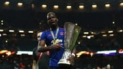Paul Pogba celebrates Manchester United's victory in Stockholm