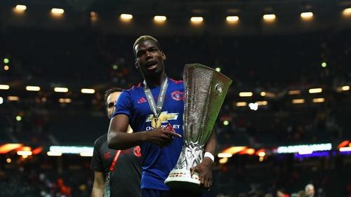 Paul Pogba helped United to claim the Europa League trophy