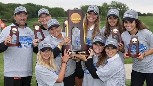 Vaughn wins NCAA women's golf title