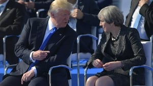 Theresa May and Donald Trump met earlier this year at the White House