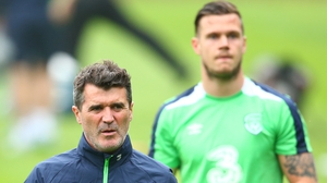 Roy Keane with Kevin Long in the background at Fota Island