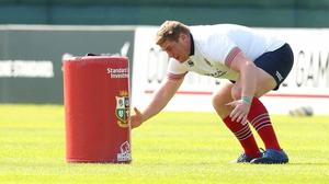 Irish tighthead prop Tadhg Furlong at Lions training