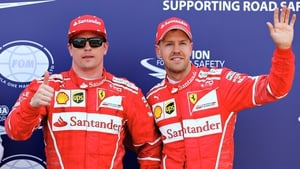 Raikkonen and Vettel will start on the front row at Monte Carlo