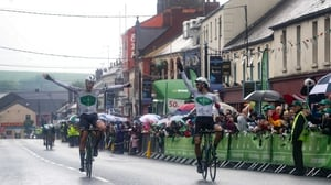 Dutch rider Meijers celebrates his stage win in Ardee