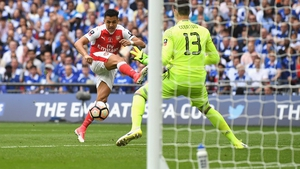 Alexis Sanchez scoring the controversial opener