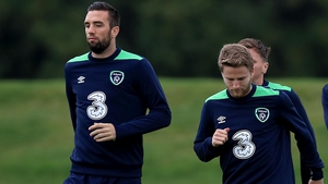 Duffy and O'Kane safely joined the rest of the Ireland squad