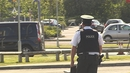 The PSNI secures the scene of yesterday's shooting in Bangor