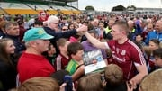 Crowds flocked around Joe Canning after Galway's victory at O'Connor Park