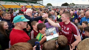 Fans flocked around Joe Canning after Galway's victory at O'Connor Park