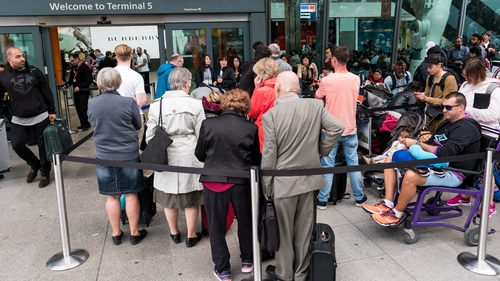 A bank holiday in Britain added to the volumes of traffic at London airports over the weekend