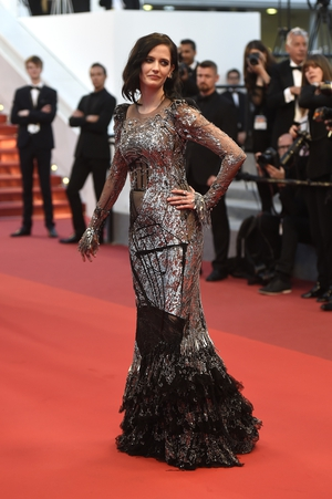 Day Eleven - Saturday May 27: The bewitching beauty Eva Green in a silver Alexander McQueen gown.