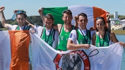 Team Ireland celebrate their success at the Europeans