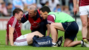 Paul Killeen injured his knee against Dublin