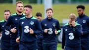 The Republic of Ireland players are put through their paces