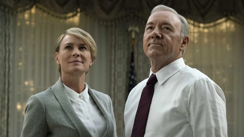 Robin Wright and Kevin Spacey are back as the scheming Underwoods in House of Cards