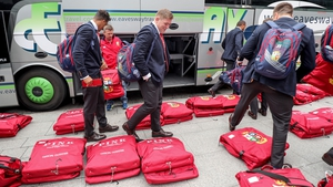 Tadhg Furlong and the rest of the Lions attempt to figure out which bag is theirs