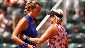 Petra Kvitova's return to action was stopped short by Bethanie Mattek-Sands