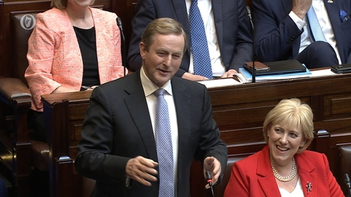 Enda Kenny received tributes from various TDs, despite their differing politics