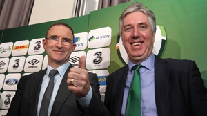 Martin O'Neill (L) and John Delaney have an 'understanding