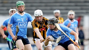 Kilkenny's Michael Cody clashes with Donal Burke of Dublin at Nowlan Park