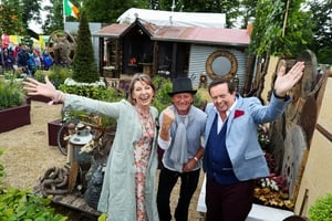 Des with Super Garden live finale presenters RTÉ's Áine Lawlor and Marty Morrissey