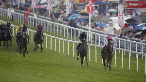 Enable's stamina saw her power five lengths clear of Rhododendron at the line