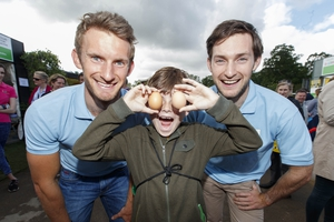 The Olympic medal winning O'Donovan brothers had a ball at Bloom and also promoted their healthy eating fitness plan to fans