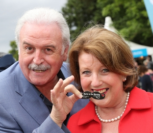 Marty Whelan broadcasted live on Lyric fm from the RTÉ stage